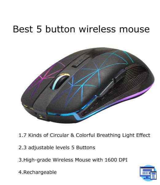 best 5 button wireless mouse